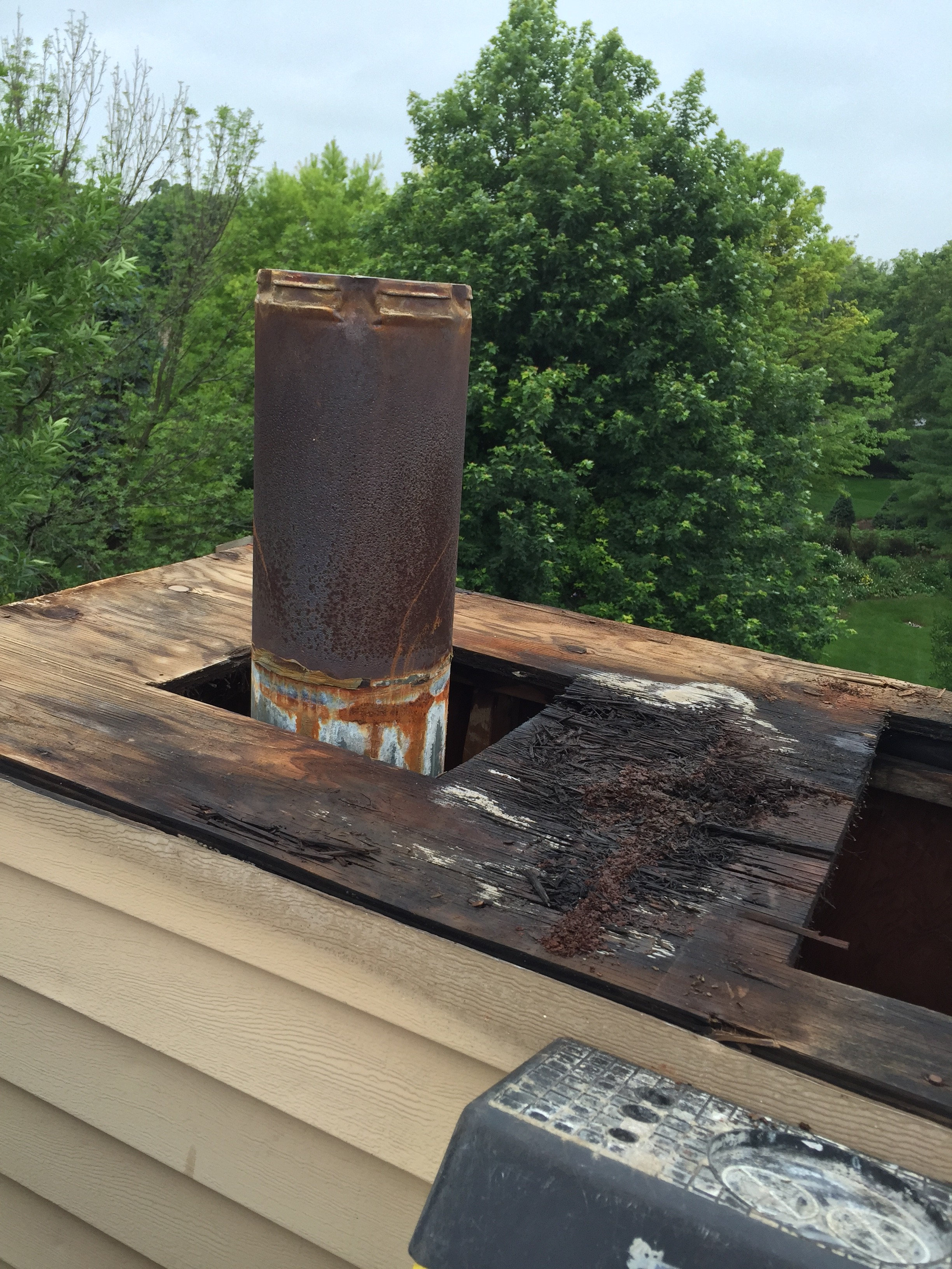 1 The Simplest Cause Of Chimney Leaking Rain Going Straight In From Top